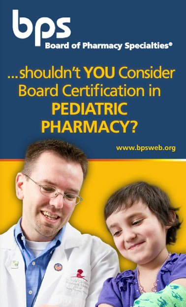 Pediatric Pharmacy – Board of Pharmacy Specialties