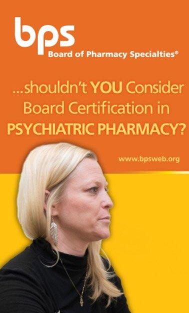 Psychiatric Pharmacy – Board of Pharmacy Specialties